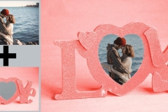 Create Romantic Photo Frames