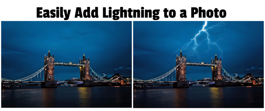 Easily Add Lightning to a Photo